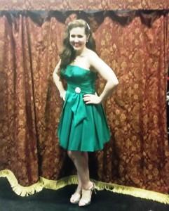 My emerald green Christmas dress!