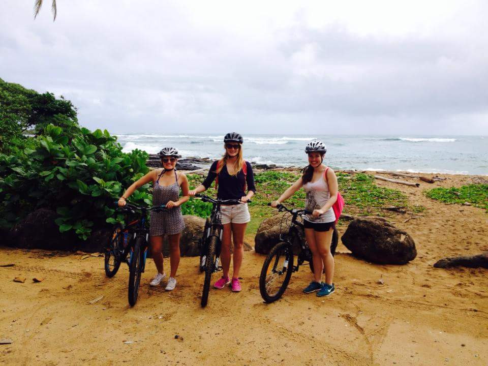 We three girls with our bikes!