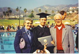 Grammer, Gramper, and Daddy at His Gradu
