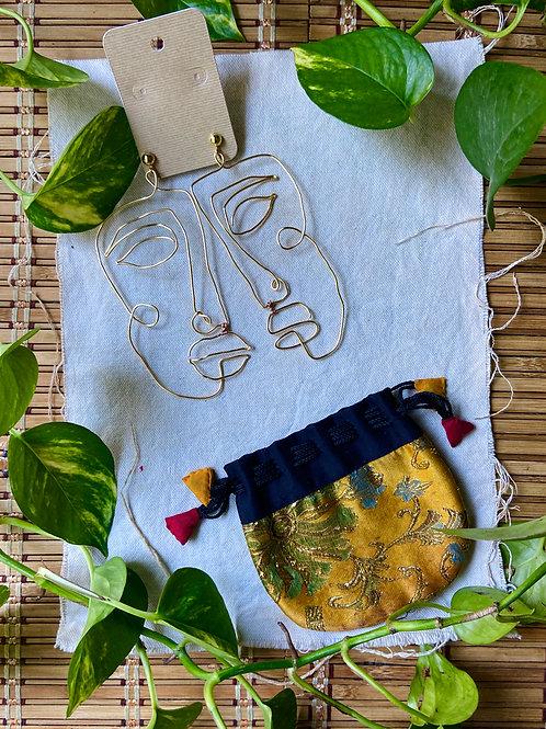 Silhouette Earrings: Gabon