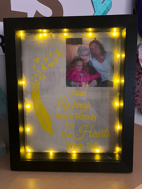 Picture shadow box 8x10 with lights