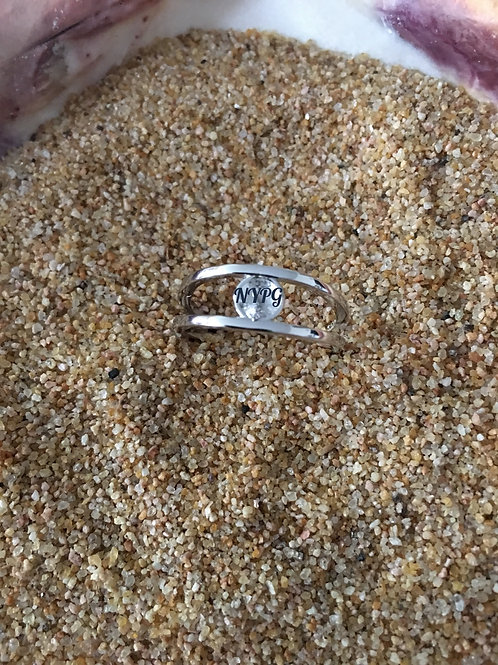 SS Classic Ring Size 8 w/Oyster
