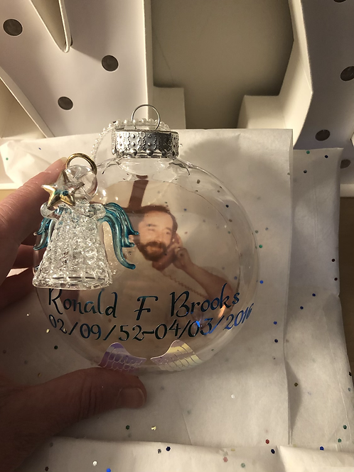 Crystal angel ornament personalized