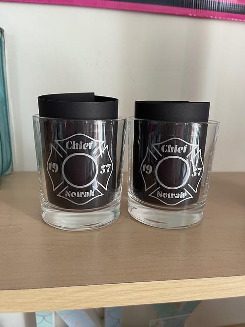 Whiskey Glass set personalized