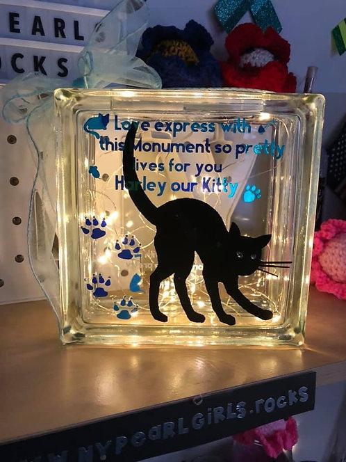 Cat memorial block