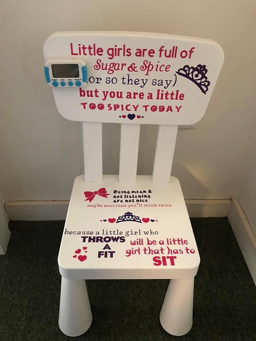 Kids Time Out chair ( girl )