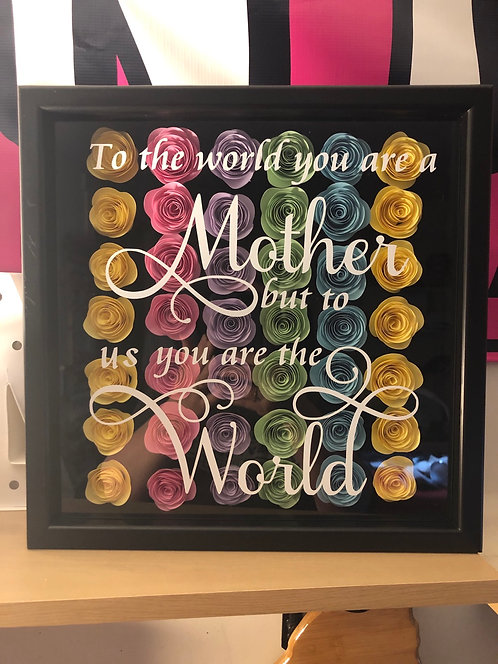 Mother shadow box