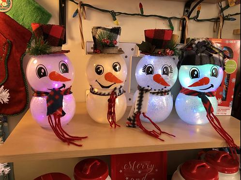 Lighted snowman