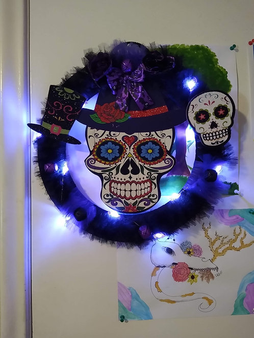 Candy skull with lights
