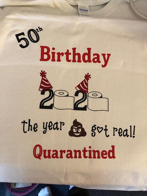 Birthday shirts (S,M,L & XL) only