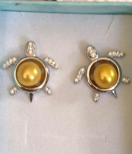 SS turtle earring mounts