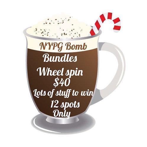Cocoa bomb wheel spin