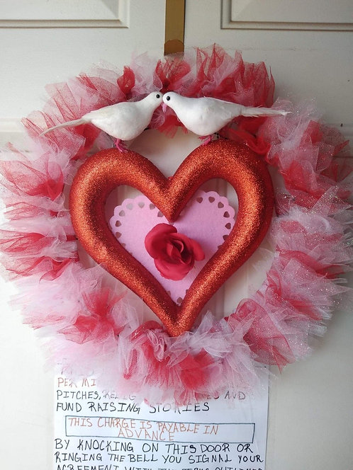 Happy Valentines Wreath
