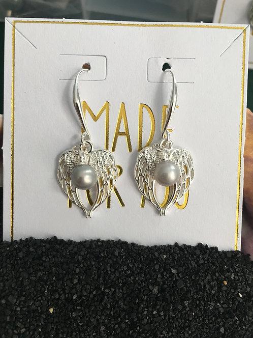 angel wing earring mount dangle