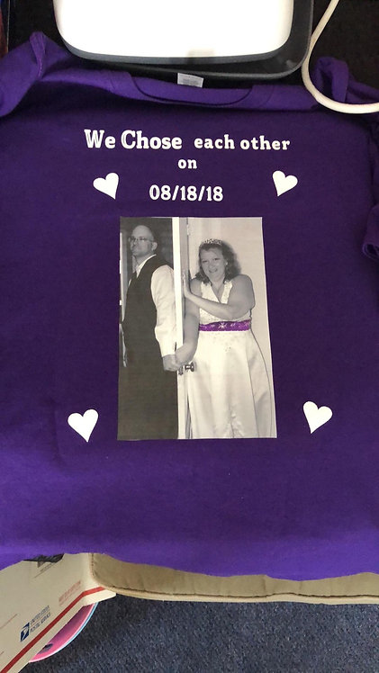 Wedding Shirts personalized  ( 2XL or Larger )