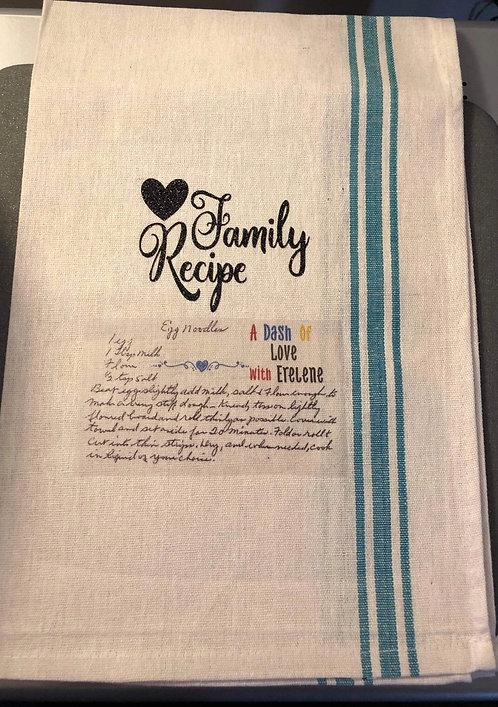 Family recipe towel