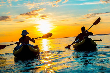 Kayaking at Cape Jaffa Anchorage Marina.