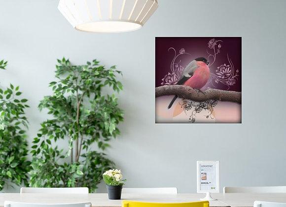 bullfinch on the wall