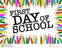 The First Day of School is Tuesday, August 13th