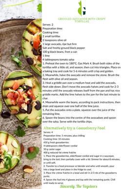 Griddled Avocados With Crispy Tortillas & Gooseberry Fool Recipe