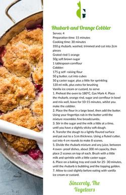 Rhubarb and Orange Cobbler recipe