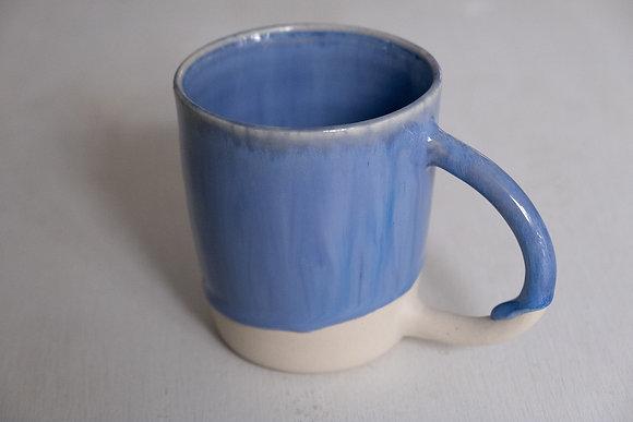 Floating blue white mug
