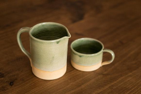Mini jarra Oribe green