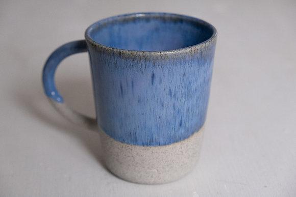 Floating blue speckled mug