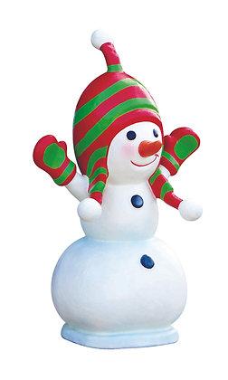 Boneco de Neve Encantado em fibra de vidro