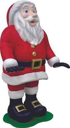 Papai Noel Casal em fibra de vidro
