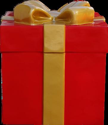 Caixa de Presente Baixa Vermelha em fibra de vidro