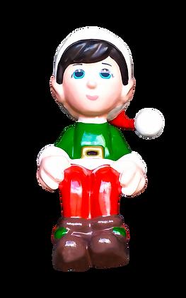 Ajudante do Noel Sentado em fibra de vidro