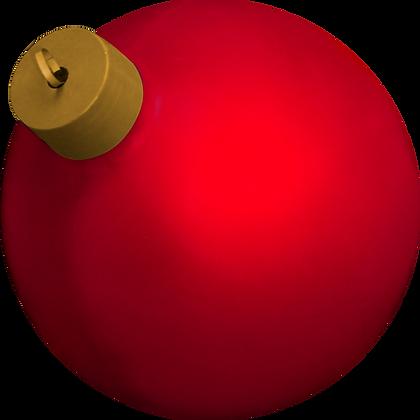 Bola de Natal Gigante Metalizada em fibra de vidro