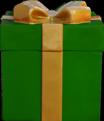 Caixa de Presente Baixa Verde em fibra de vidro