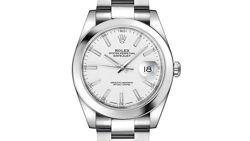 Rolex Datejust 41 White Dial Automatic Men's Watch 126300