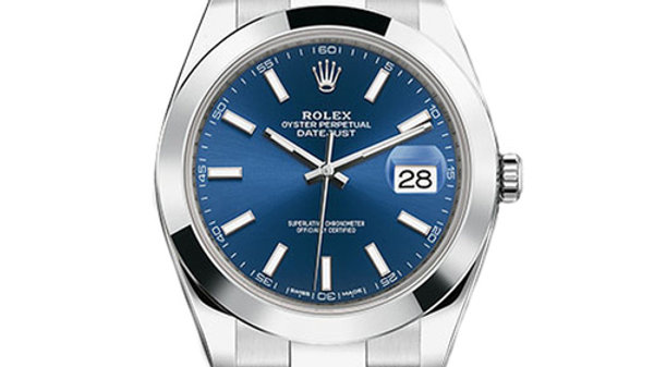 Rolex Datejust 41 Blue Dial Stainless Steel Men's Watch 126300