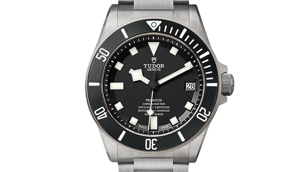 Tudor Pelagos Chronometer Black Dial Titanium Men's Watch M25600TN-0001
