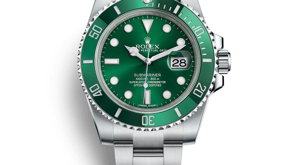 "Rolex Submariner ""Hulk' Green Dial 116610LV"