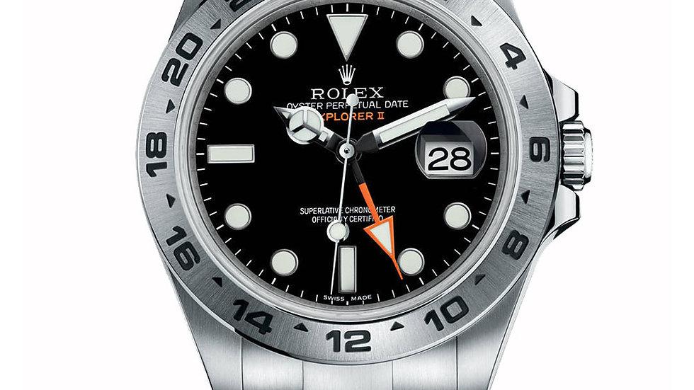 Rolex Explorer II Black Dial 42mm Stainless Steel Oyster Bracelet 216570