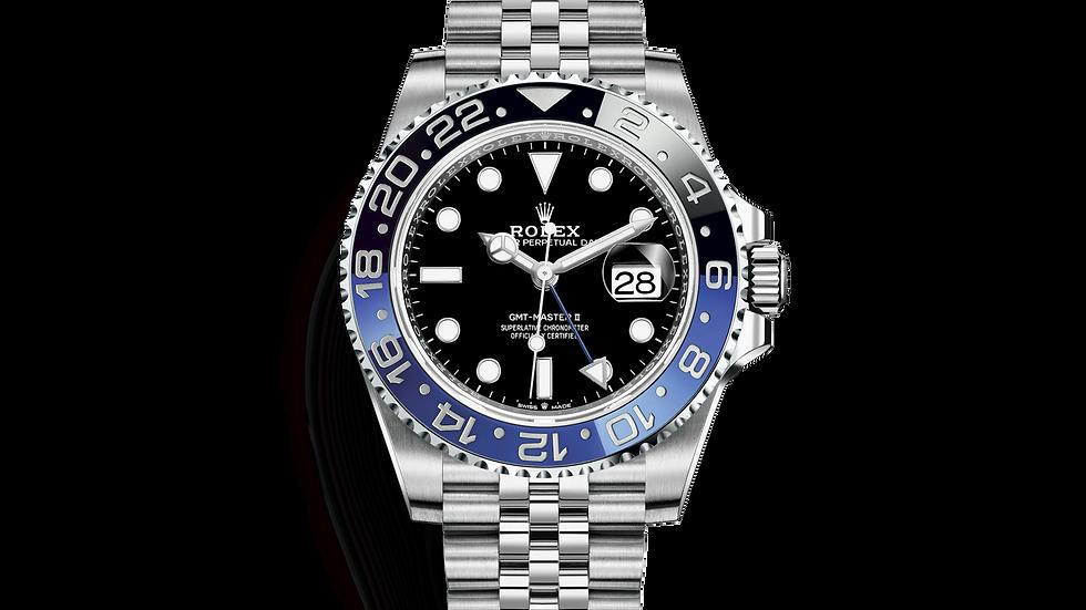 Rolex GMT Master 2 Black Dial Batman Jubilee 126710blnr