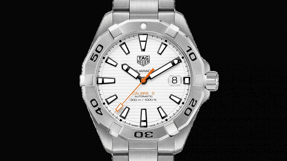 Tag Heur Aquaracer Calibre 5 Automatic White Dial Men's Watch WBD2111.BA0928