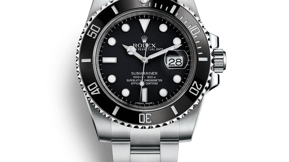 Rolex Submariner Dial Date Black Bezel Steel Mens Watch 116610LN