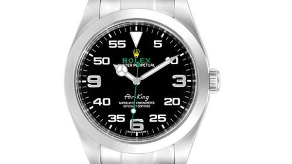 Rolex Air King Black Dial Stainless Steel Men's Watch 116900