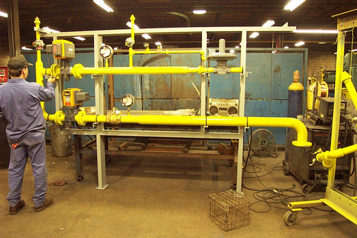 Gas Line Pipe Fabrication