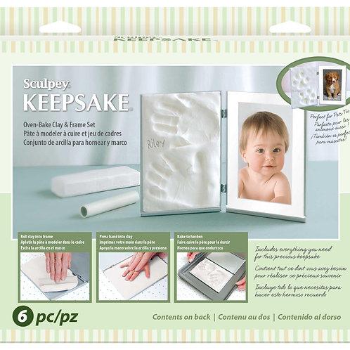 K3 4055  Sculpey Keepsake Clay Memory Frame  White