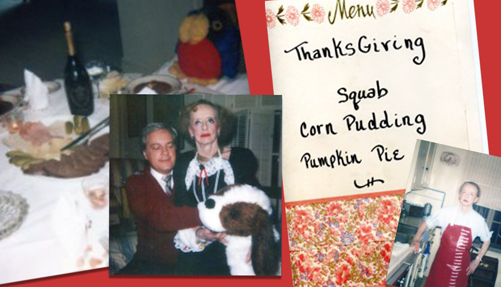 Photos and the menu from Thanksgiving, 1983.