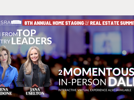 Home Staging & ReDesign Alliance (HSRA) to Host 2021 Home Staging & Real Estate Summit in Irving, Tx
