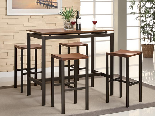 Dinning: Counter Height 5pc Bar Set