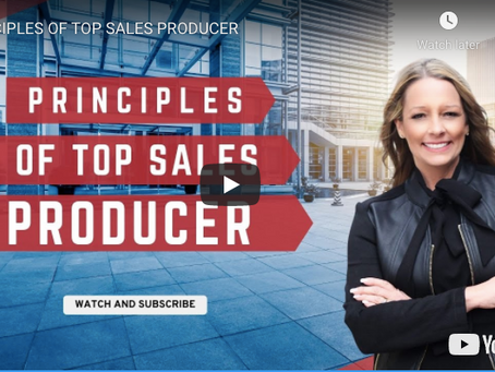 The Principles of a Top Sales Producer