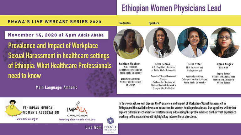 Prevalence and Impact of Workplace  Sexual Harassment in healthcare settings  of Ethiopia: What Healthcare Professionals